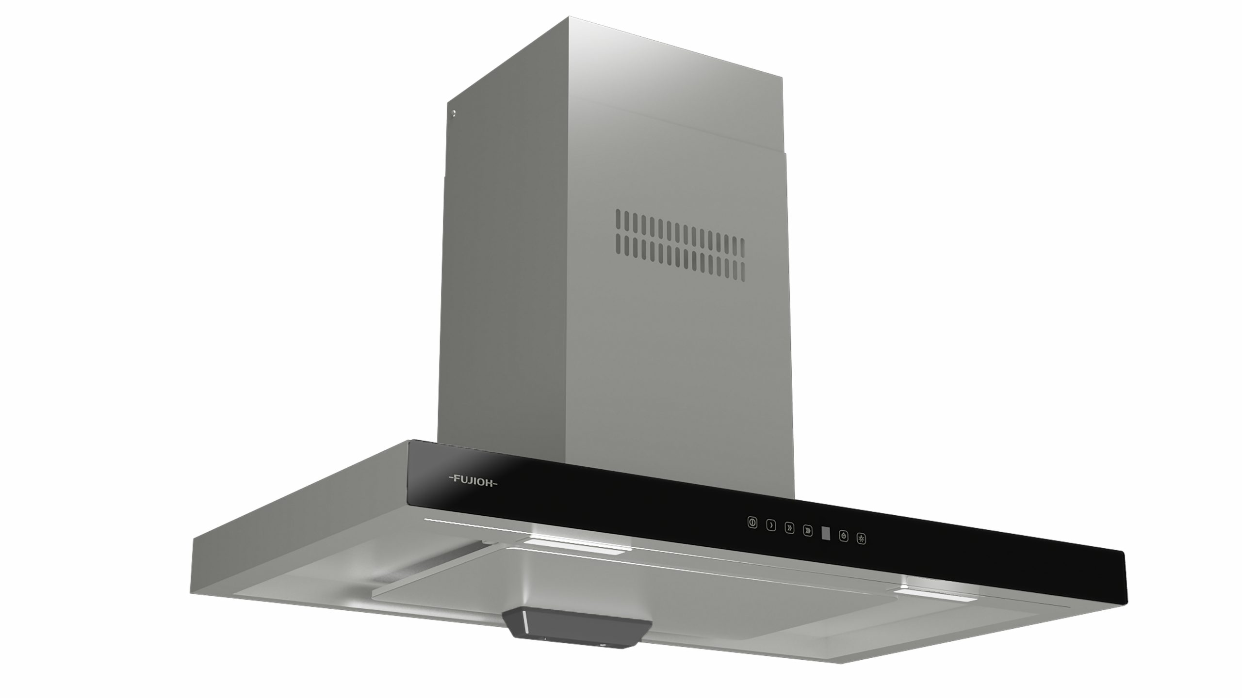 Chimney Cooker Hood with Glass Panel