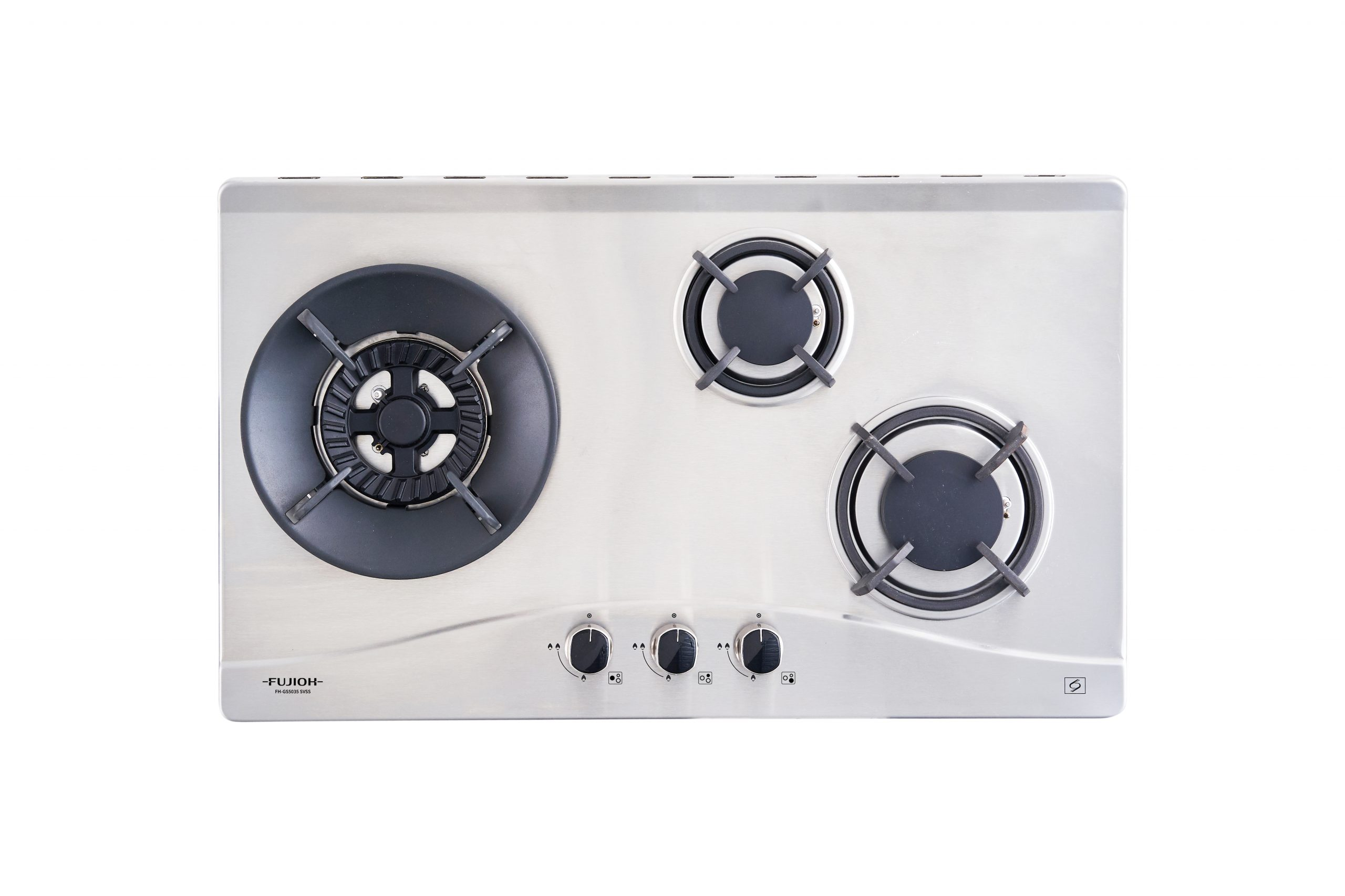 Stainless Steel Gas Hob with 3 Different Burner Size