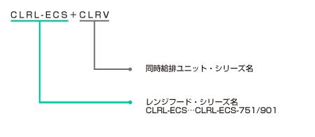 CLRL-ECS+CLRVの型番の見方説明